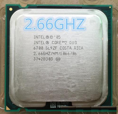 Intel E6700 Core 2 Duo 2,66ghz 4mb Bus 1066 Cache Lo Maximo - S/. 49,00 en Mercado Libre