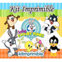 Kit Imprimible Baby Looney Tunes+ Candy Bar Fiesta
