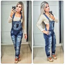 Macacão Jeans Destroyed Puramania | P R O M O Ç Ã O