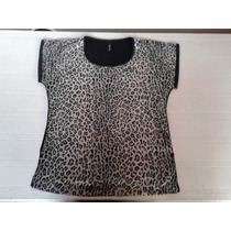 Remeron Ona Saez Animal Print Talle L Impecable!!!