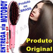 Escova Mágica Alisadora Elétrica Lcd Magic Hair Lançamento