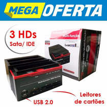 Dock Station Hdd Triplo 2 Sata +1 Ide De 2,5/3,5 Docking