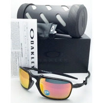 Óculos Oakley Badman Dark Carbon Ruby Polarizado Original