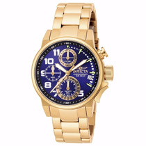 Relógio Invicta I-force 17418 - Azul Dourado Feminino