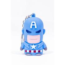 Chaveiro Led Capitão América Luz Som Vingadores Marvel Herói