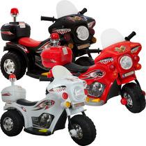 Mini Moto Eletrica Infantil Triciclo Policia Som Super Linda