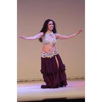 Traje Dança Do Ventre -top E Cinturao Do Cairo