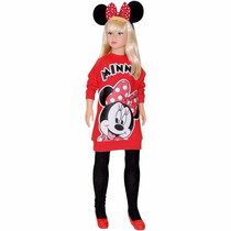 Boneca Stephany Minnie Mouse Mede Aprox.78cm De Altura