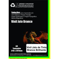 Adesivo Vinil Jato De Tinta Branco P/ Brindes A4 C/ 40 Unid
