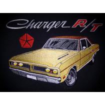 Camiseta Bordada Dodge Charger R/t Mopar