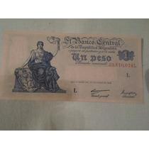 Billete 1 Peso Moneda Nacional Ley 12962 De 1947 Serie L