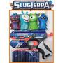 Pistola+kit Bajoterra Slugterra10 Dardos 4 Babosas 1 Remera