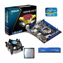 Kit Placa Mãe H61+ Core I5 3470 3.6 Ghz + 8gb Hyperx