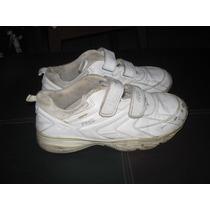 Zapatos Rs21 Niños Deportivos Blancos Gomas Talla 35