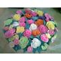 Flores En Masa Flexible (rosas Adorno Para Torta)