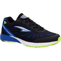 Zapatos Deportivos Rs21 Irradio Caballero (negro/azul Rey)