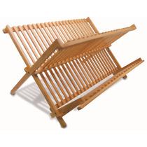 Escorredor Louças Bambu Dobrável Porta Talheres Pratos Pia
