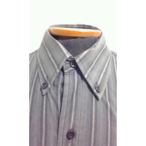 Camisa Angelo Litrico - Talle S - Casual - Gris Rayada