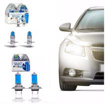 Kit Par Lampadas Super Branca Tp Xenon 8500k H7+h1 100w 12v