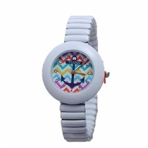 Reloj Tuogi Blanco Ancla Moda Dama **.-