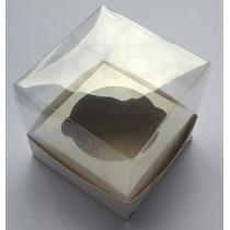 100 Caixas Bolo Cupcake 10x10x10 Acetato Transparente