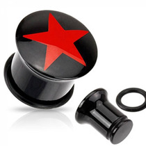 Expansor De Acrilico Diseño Estrella Punk