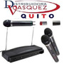 Kit Doble 2 Microfonos Inalambricos Y Receptor Audio Karaoke