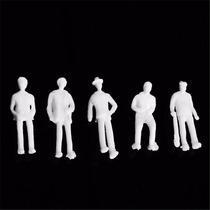 50 Figuras Humanas Escala 1:75- 25mm Plástico Maquete Branca