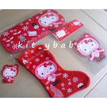 Hello Kitty Adornos Navideños, Bota Navidad Ó Stickers.