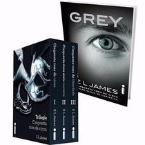 Box Livros Trilogia 50 Cinquenta Tons De Cinza + Grey