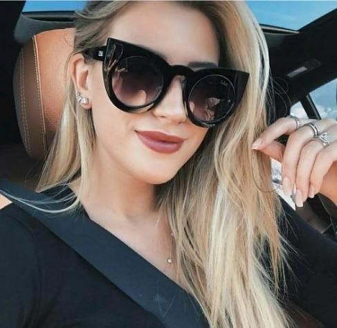 02a6a2899 Óculos Feminino Coleção Nova De Sol Escuro Espelhado Barato - R$ 49,39 em  Mercado Livre