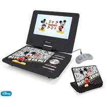 Dvd Portátil Infantil 7 Lcd Com Tv Pdt-706 Mickey Func Jogos