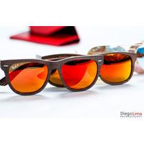 Oculos Ray Ban Madeira Modelo Rb2140 Lentes Plz Novo