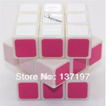 Cubo De Rubik Mágico Rainbow Series Shengshou Rosa Pink 3x3