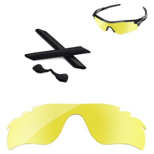 777c042c18 amarillo + kit negro polarizado lente para oakley radarlock ...