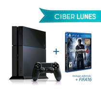 Playstation 4 + Uncharted4 + Fifa 2016 + Control Inalámbrico