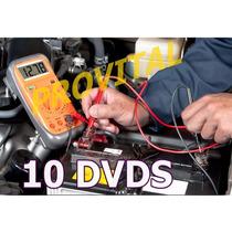 Curso Eletricista De Carro Auto Elétrico Vídeo Aulas 10 Dvds