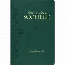 Bíblia De Estudo Scofield Almeida Corrigida Fiel Luxo Verde
