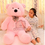 Urso De Pelúcia Gigante Rosa 140cm Vai Cheio Envio Imediato