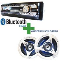 Combo Auto Estereo Stereo Bluetooth Desmonta + Parlante 5
