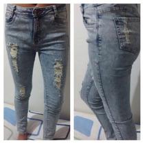 Pantalón Jean Mujer Hasta La Cintura Azúcar Ice Rasgado