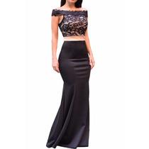 Vestido De Fiesta De Fino Encaje Negro , Ideal Fiestas Antro