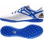 Botines Adidas Messi 15.4 Tf White/blue Papi Futbol Indoor