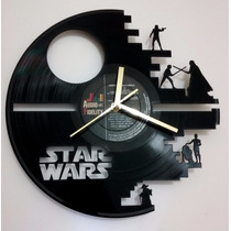 Reloj En Disco De Vinilo Star Wars Diseño Original