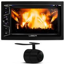 Dvd Player Toca Cd Carro Mp3 Usb Lcd Radio Am Fm + Camera Re