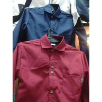 Niños Camisas Azul Lisa Fiesta Vestir Talles 4 Al 14