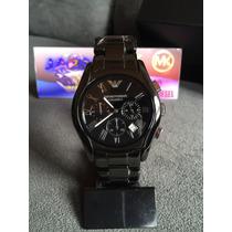 Relógio Emporio Armani Ar1400 Cerâmica Preto Original