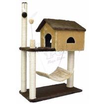 Arranhador Para Gato Casa Com Rede House Casinha Cama