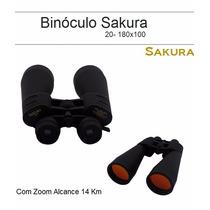 Binóculo Sakura 20- 180x100 Com Zoom Alcance 14 Km