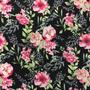 Flores Negro-Rosa (Polilycra)